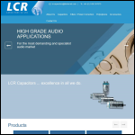 Screen shot of the LCR Capacitors Ltd website.