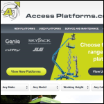 Screen shot of the A J Access Platforms Ltd website.