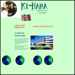 Screen shot of the Ki-Hara Chemicals Ltd website.