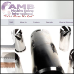 Screen shot of the Camb Machine Knives International website.