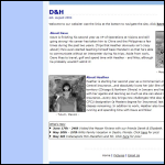Screen shot of the D. H. Willis website.