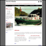 Screen shot of the Abels, David Boatbuilders website.