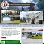 Screen shot of the Bicknell Construction website.