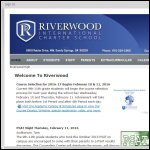 Screen shot of the Riverwood International website.