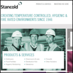 Screen shot of the Stancold plc website.
