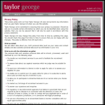 Screen shot of the Taylor, George Ltd website.
