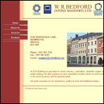 Screen shot of the W R Bedford (Stone Masonry) Ltd website.
