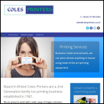 Screen shot of the Coles Printers website.