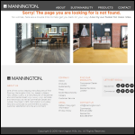 Screen shot of the Mannington International (UK) website.
