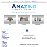 Screen shot of the FPF Packaging Supplies website.