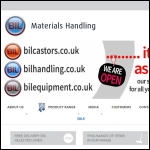 Screen shot of the BIL Materials Handling website.