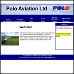 Screen shot of the Polo Aviation Ltd website.