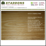 Screen shot of the Staddon, Wm. & Son Ltd website.