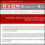 Screen shot of the Avon Industrial Doors Ltd website.