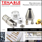 Screen shot of the Tenable Screw Co Ltd website.