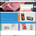Screen shot of the Multivac UK website.