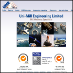 Screen shot of the Uni-Mill Engineering Ltd website.