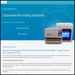Screen shot of the Cotswold Recording Systems website.