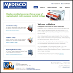 Screen shot of the Medisco Medical Systems website.