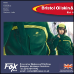 Screen shot of the Bristol Oilskin & Overall Co Ltd website.