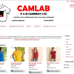 Screen shot of the Camlab Computer Electronic Services website.