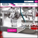 Screen shot of the Kecol Pumping Systems Ltd website.