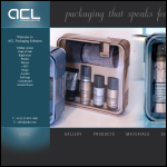Screen shot of the ACL Packaging Solutions Ltd website.