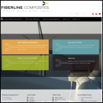 Screen shot of the Fiberline Composites Ltd website.