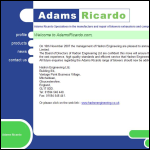 Screen shot of the Adams Ricardo Ltd website.