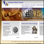 Screen shot of the A & B Foundries website.