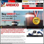 Screen shot of the Aremco Products website.