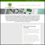 Screen shot of the Central Energy Ltd website.