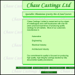Screen shot of the Chase Castings Ltd website.
