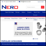 Screen shot of the Nero Pipeline Connections Ltd website.