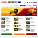 Screen shot of the Trailer Engineering Ltd website.