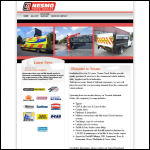 Screen shot of the Welford Truck Bodies website.