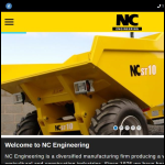 Screen shot of the NC Engineering (Hamiltonsbawn) Ltd website.