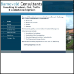 Screen shot of the Barneveld Consultants website.