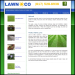 Screen shot of the Lawn Works Co website.