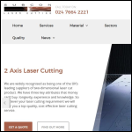 Screen shot of the Subcon Laser Cutting Ltd website.