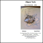 Screen shot of the Allgear Tools website.
