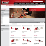 Screen shot of the Jet Clamp System website.
