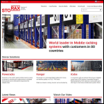 Screen shot of the Storax Racking Systems Ltd website.