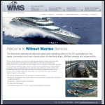 Screen shot of the Wilmot Marine Services website.