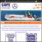 Screen shot of the Cape Marine Ltd website.