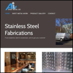 Screen shot of the A I S Sheet Metal Ltd website.