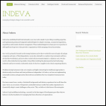 Screen shot of the Indeva Ltd website.