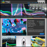 Screen shot of the TSC Inspection Systems website.
