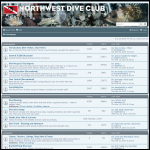 Screen shot of the Norwest Diving & Underwater Engineers website.