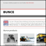 Screen shot of the Bunce (Ashbury) Ltd website.